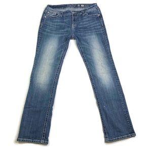 Miss Me Signature Boot Cut Denim Jeans Size 34